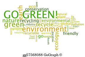 Go Green Clip Art.