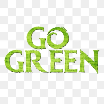 Go Green PNG Images.