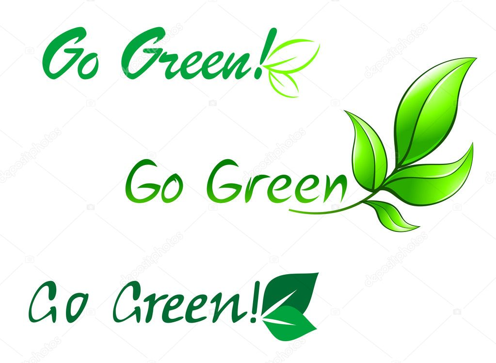 Go green symbols — Stock Vector © Seamartini #7679978.