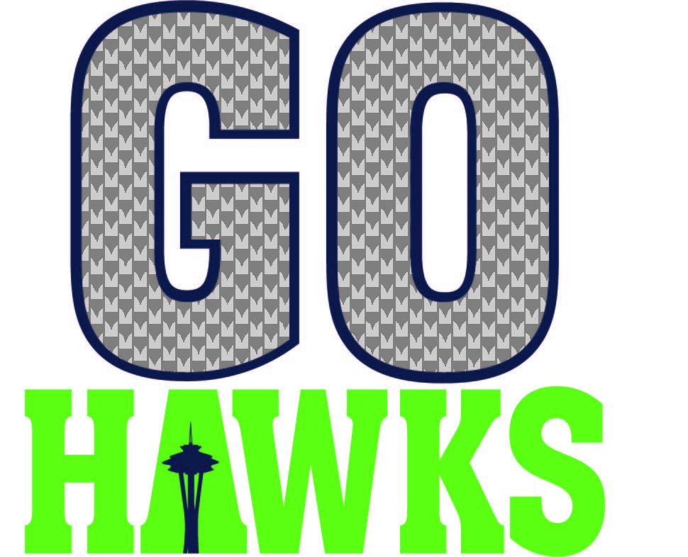 SVG Clipart GO Hawks.
