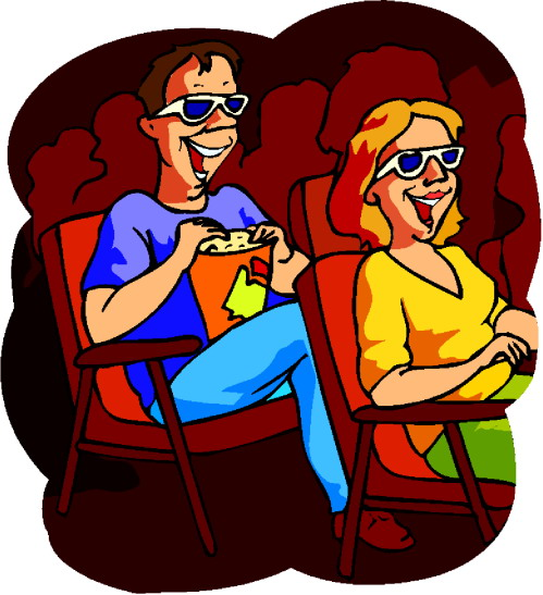 Go to the movies clipart.