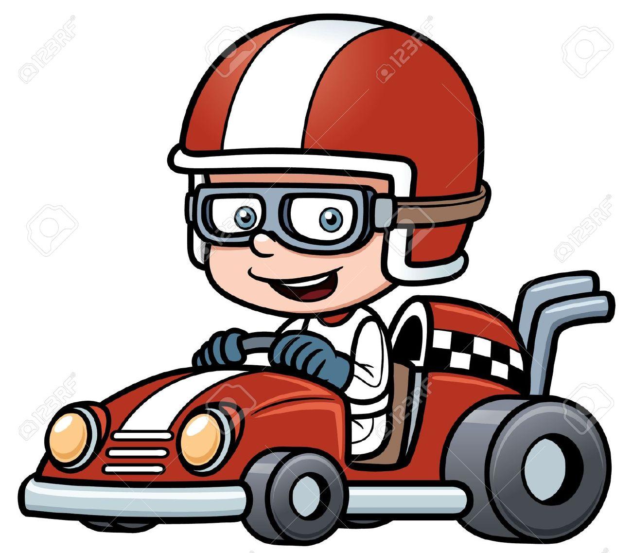 Off road go kart clipart.