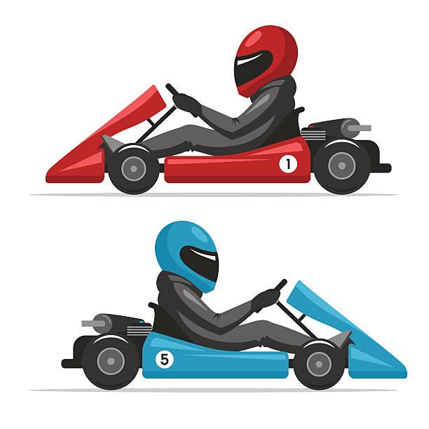 Go Karting Illustrations, Royalty.