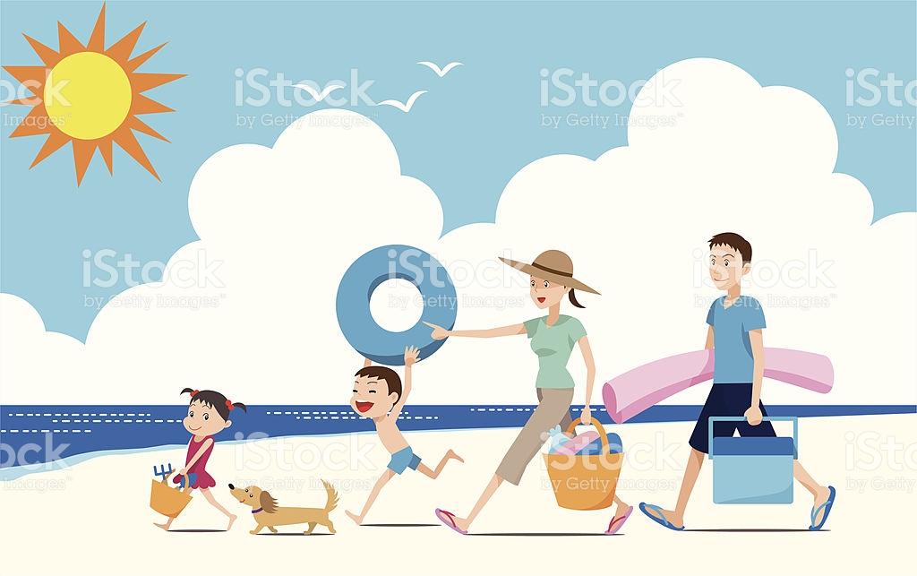 Lets Go Swimming In The Ocean Stock Vector Art 167580806