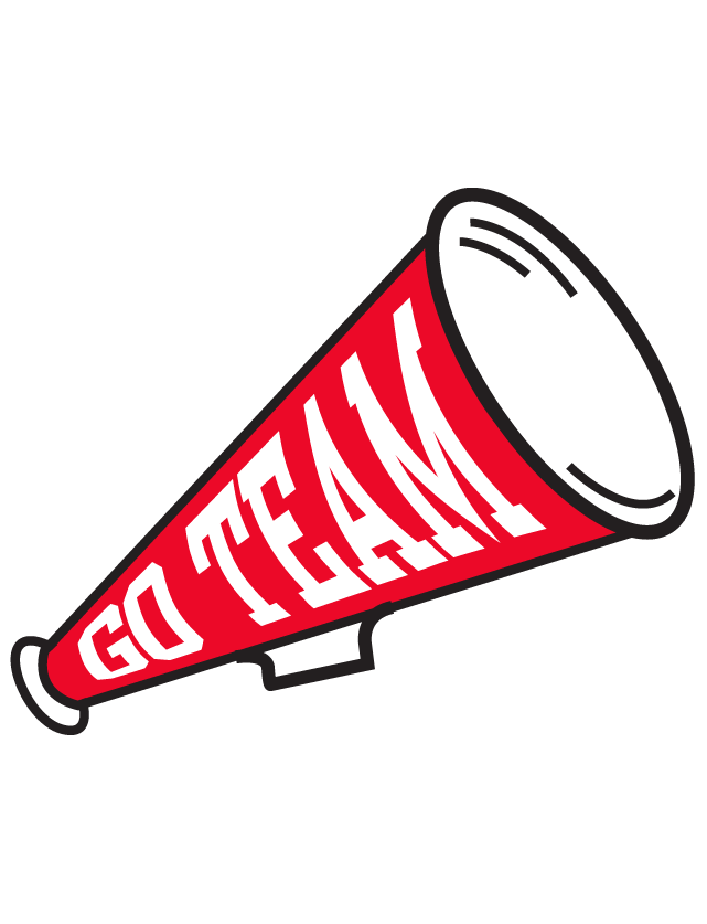 Megaphone clipart red team, Megaphone red team Transparent.