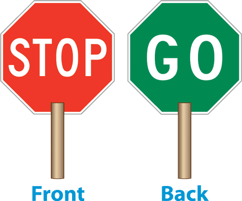 Stop go sign clipart.