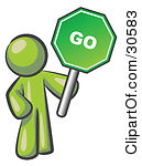 Green Colored Go Sign Posters, Art Prints by Prawny.