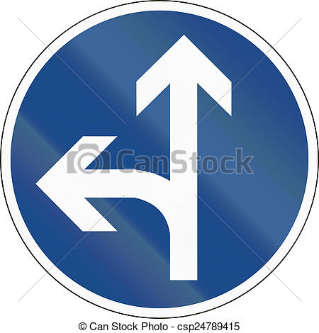 Stock Photography of Go Straight Or Left.