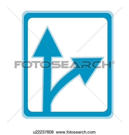 Clip Art of Go straight, icons, Way, arrows, Arrow, right turn.