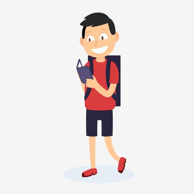 Cartoon Endorsement Package To Go To School Students, School Clipart.