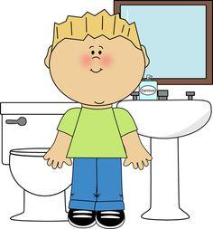 Using The Bathroom Clipart.