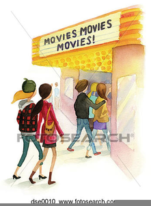 Going To The Movies Clipart.