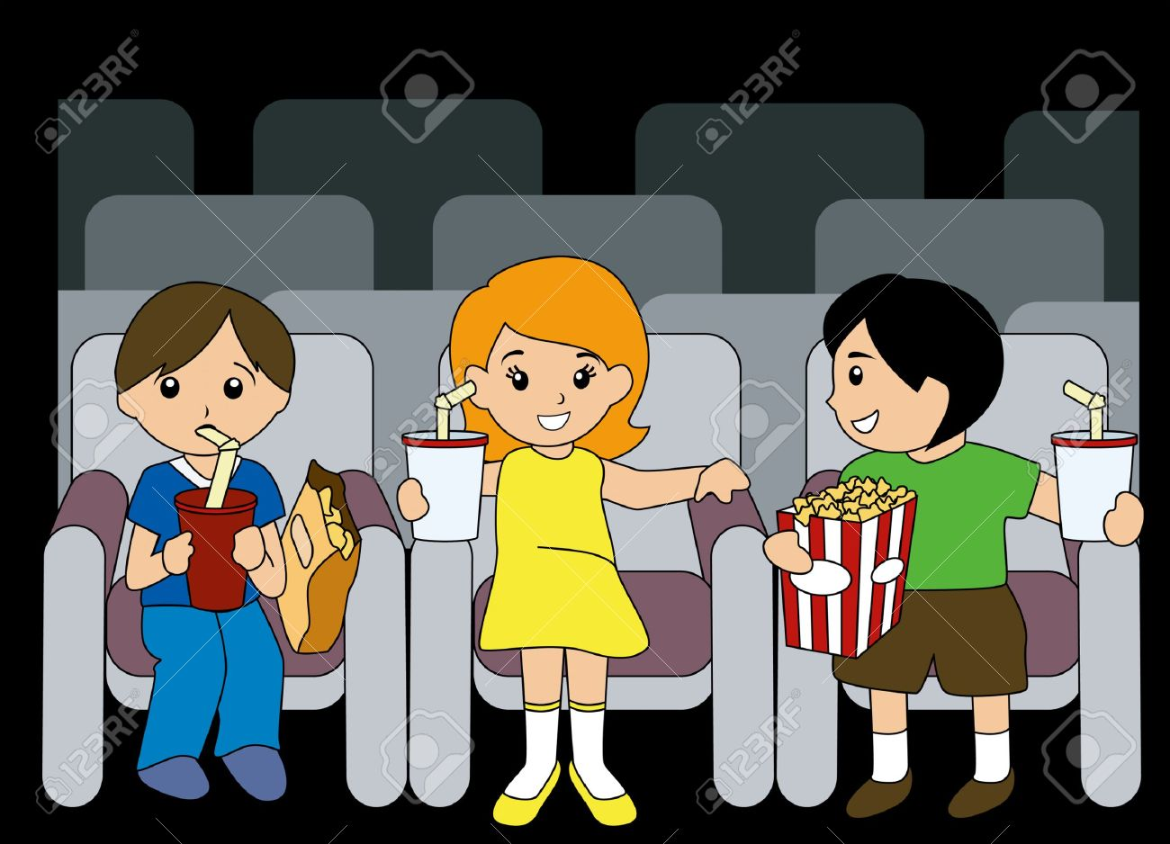 Go to the movies clipart 5 » Clipart Station.