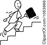 Going up stairs clipart.