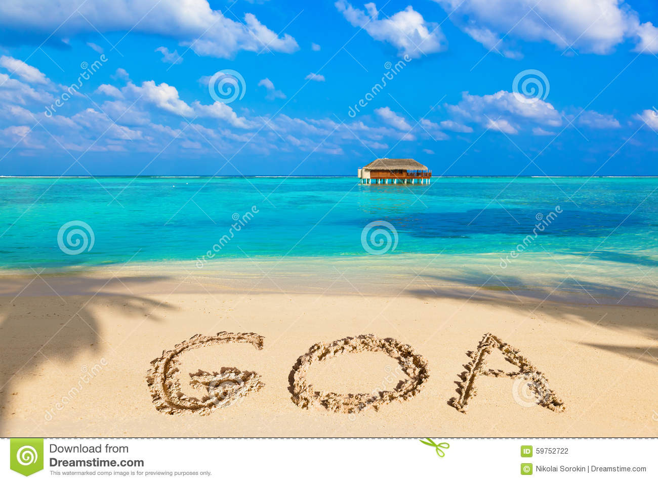 Goa Beach Photo Clipart.