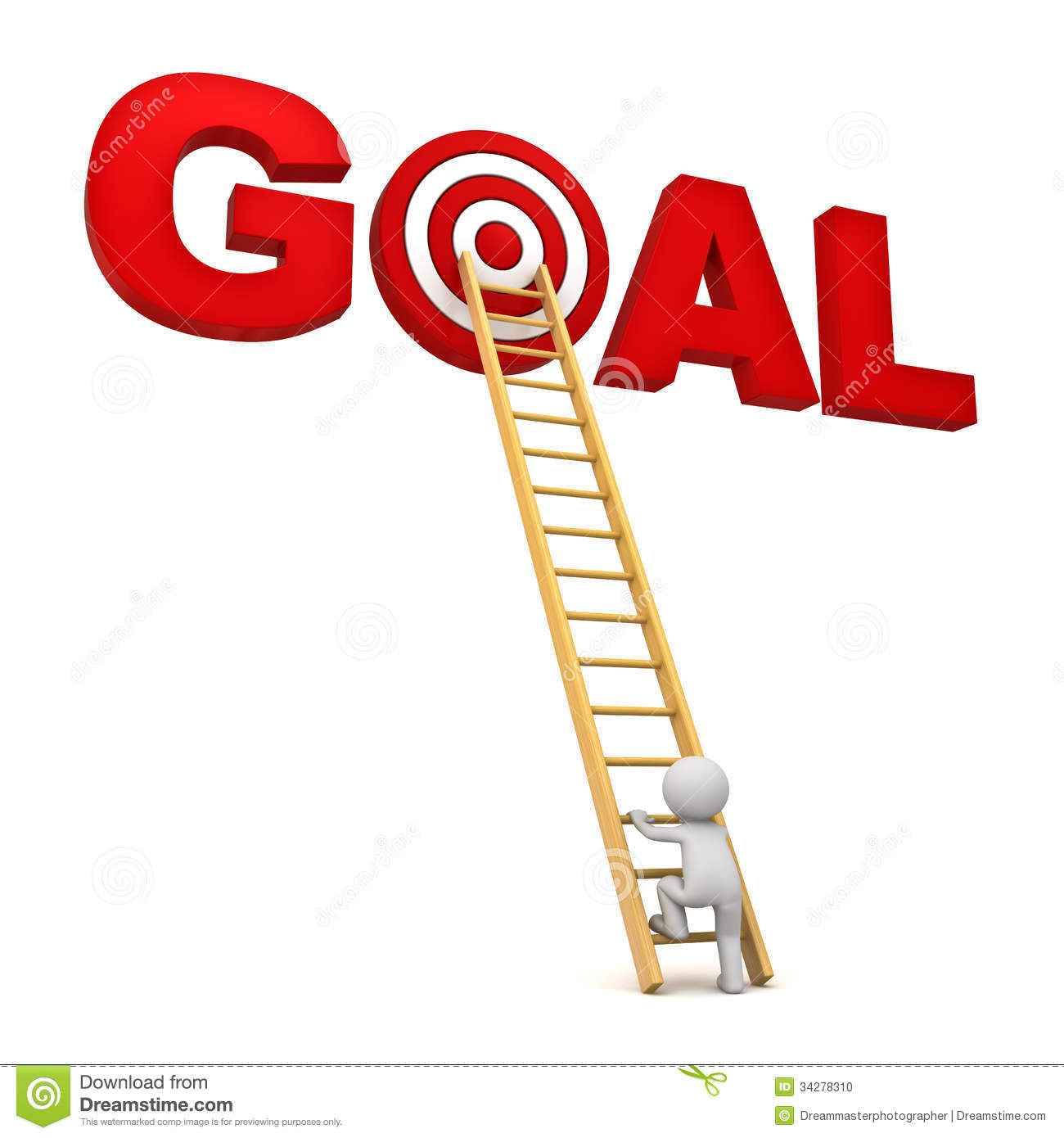 Achieving Goals Clipart.