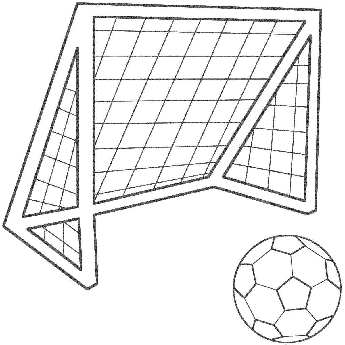 666 Soccer Goal free clipart.