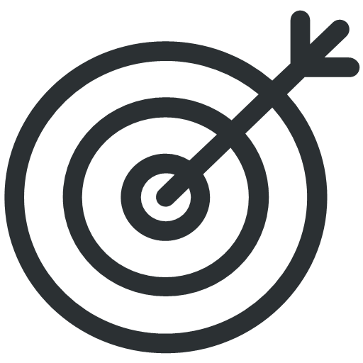 finance goal target icon.