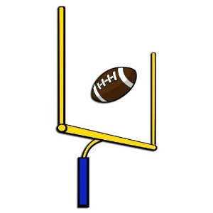 Football goal posts clipart.