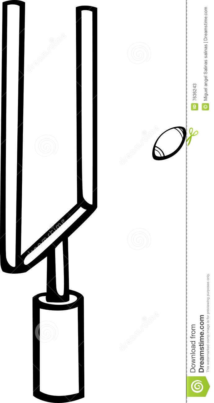 Football field goal post clipart.