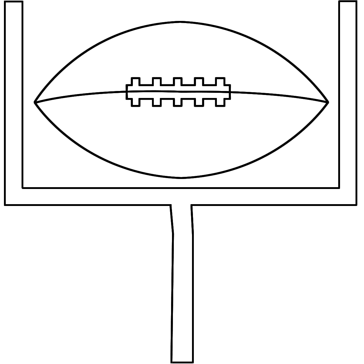 Field goal post clip art.