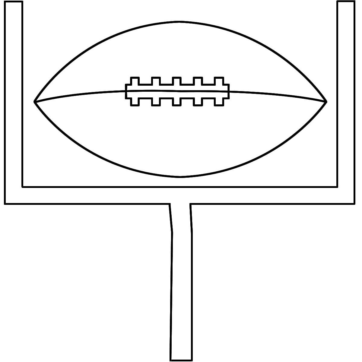 Field goal post clip art.