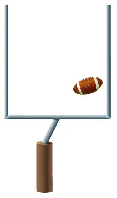 Football goal post clip art.