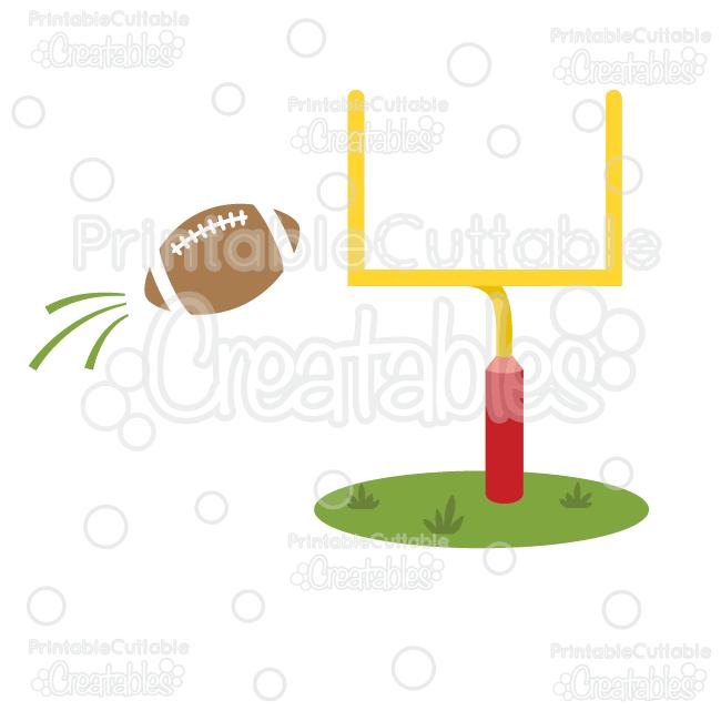 Goal Post & Football Free SVG Cut File & Clipart.