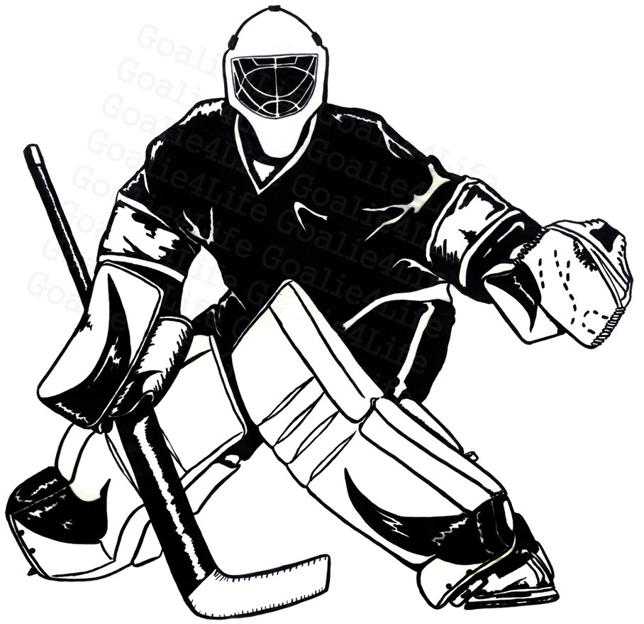 Goaltender clipart #16