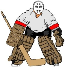 Showing post & media for Ice hockey goalie cartoon.