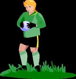 Goalkeeper clipart.