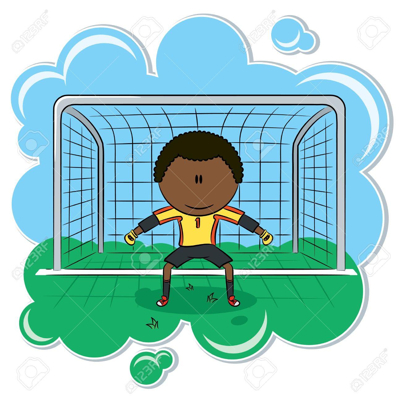 Goalie soccer clipart.