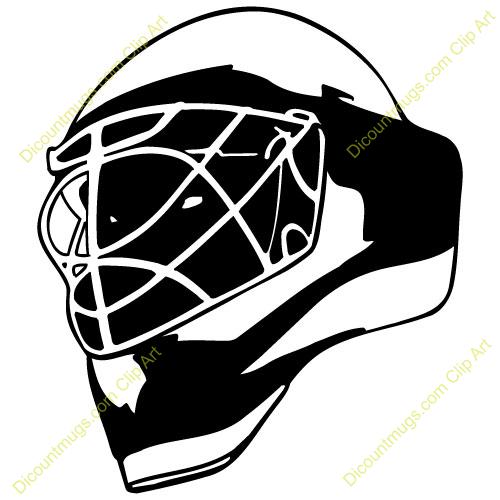 Goalie mask clip art.