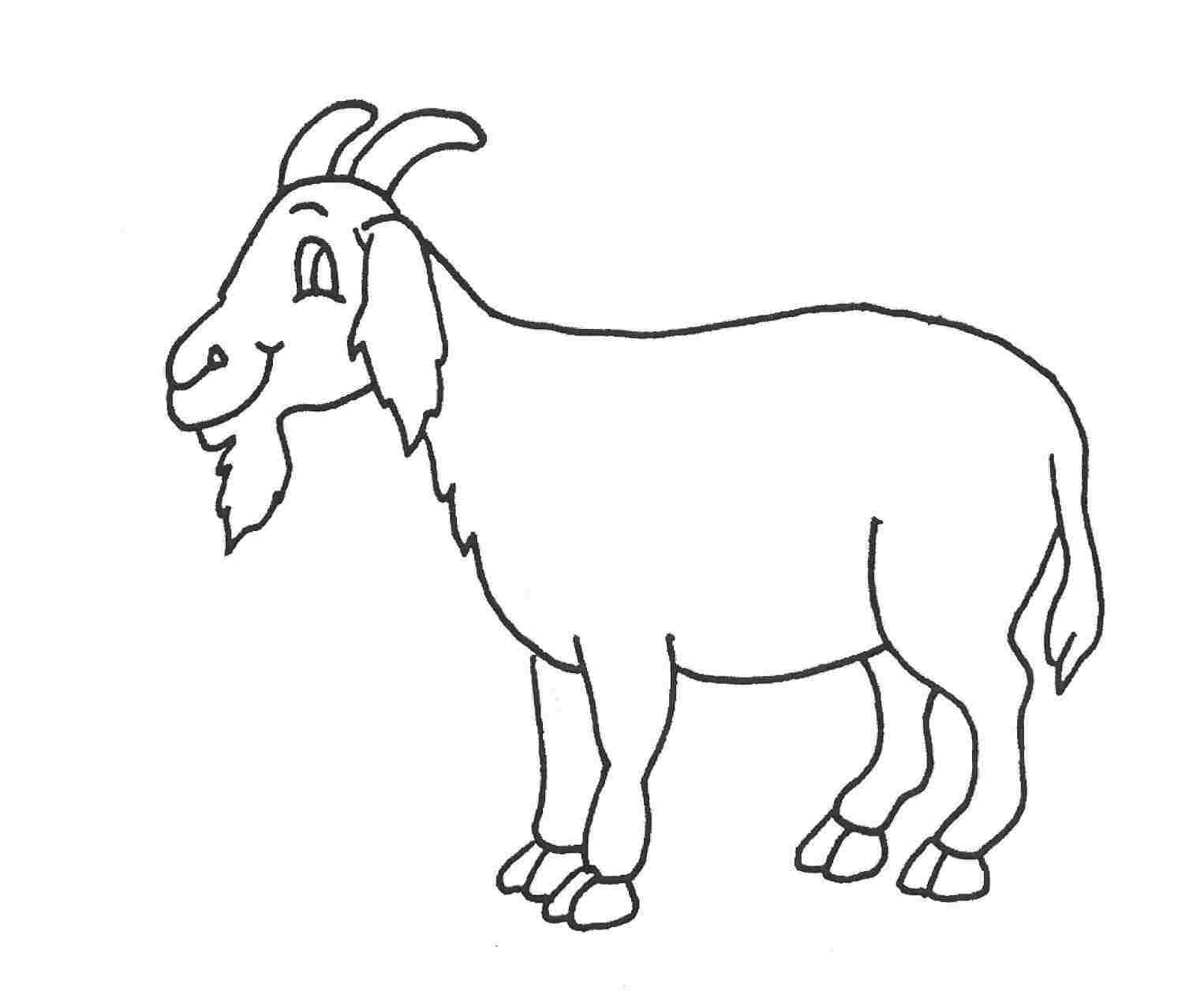 Kid goat clipart black and white 7 » Clipart Station.