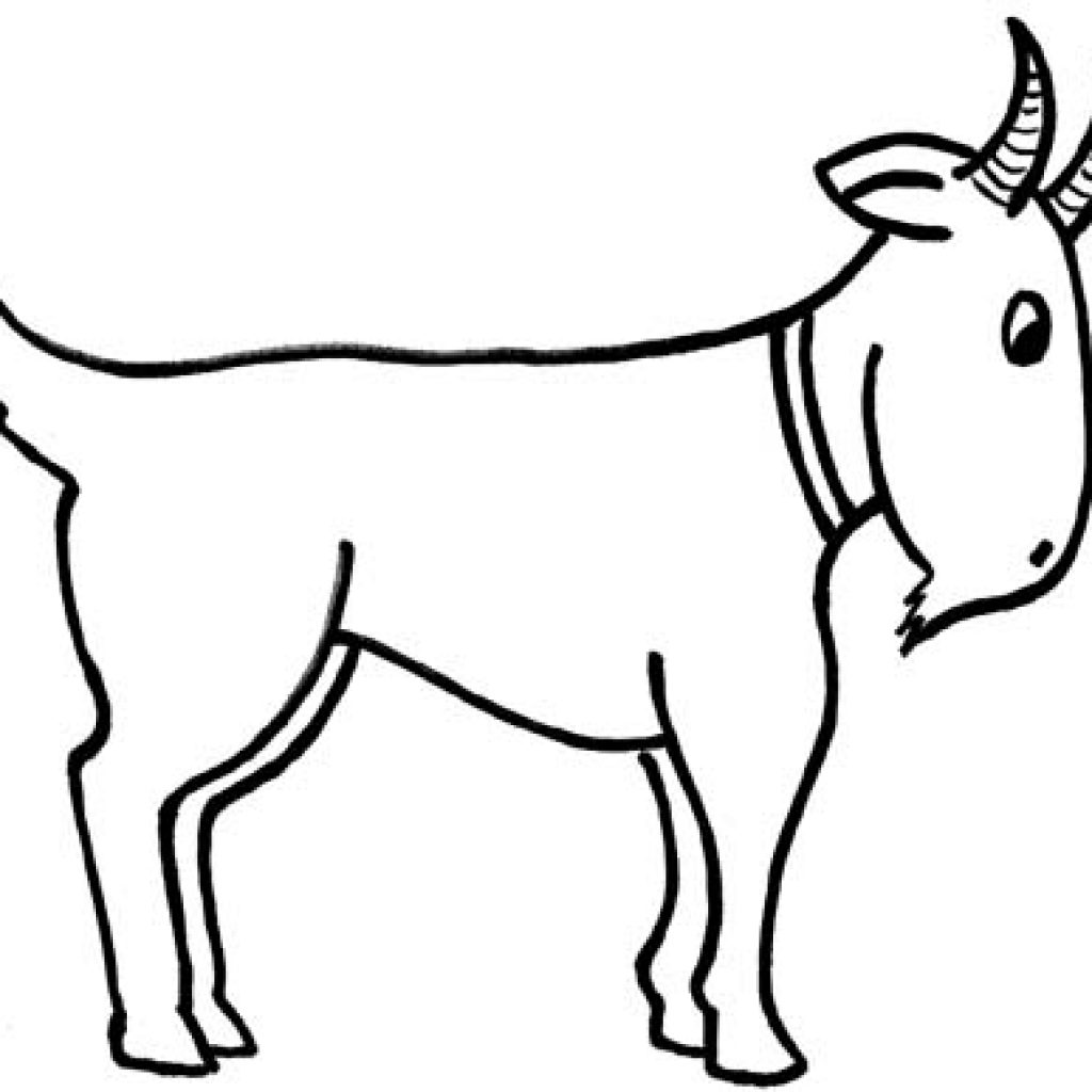 Clipart black and white goat 2 » Clipart Station.