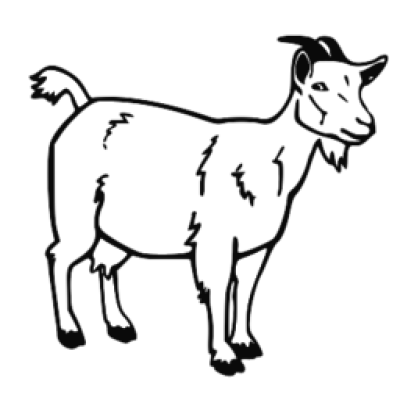 28+ Collection of Free Black And White Goat Clipart PNG.