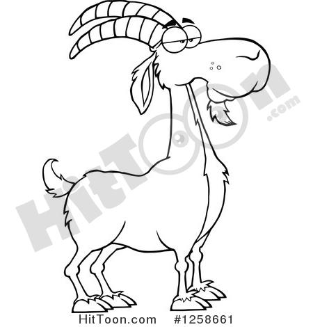Boer Goat Clipart #1258661: Black and White Male Boer Goat Buck by.