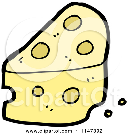 Clipart of a Thinking Cheese Wedge.