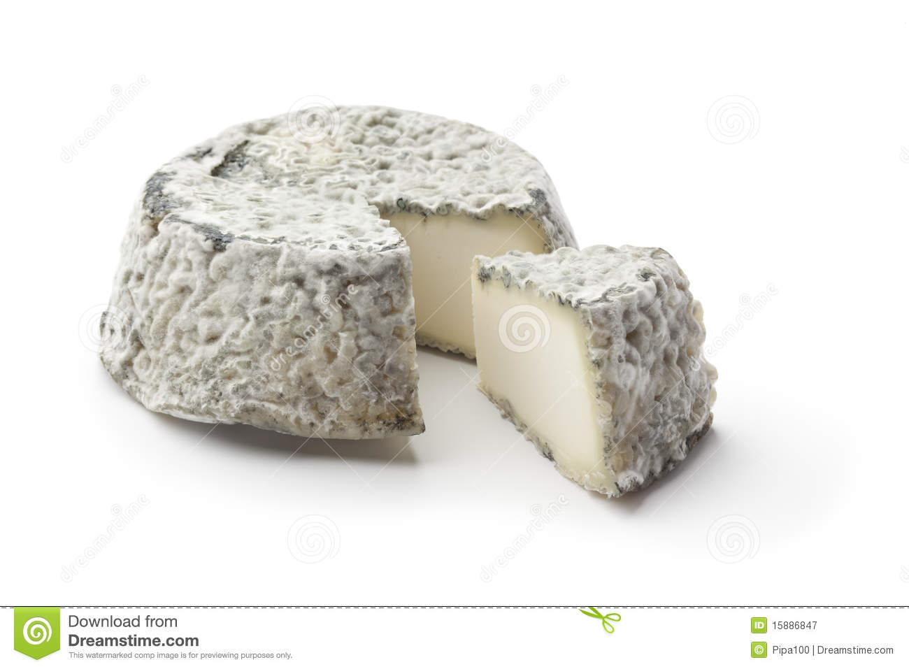 French Goats Cheese Royalty Free Stock Photography.