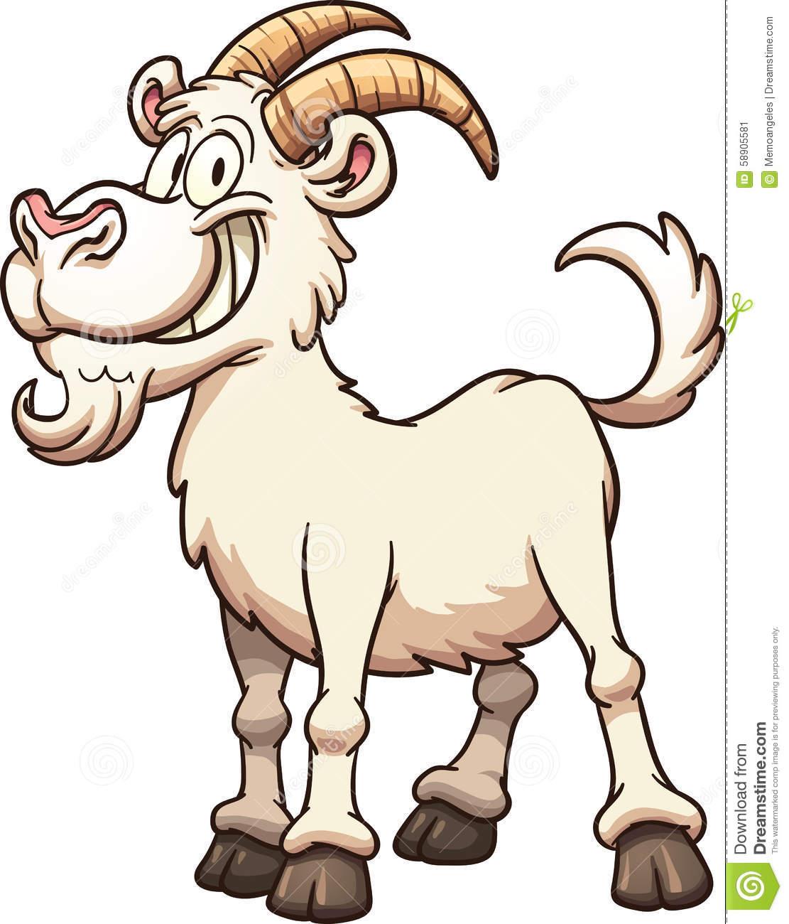 Cartoon goat stock vector. Illustration of vector, illustration.