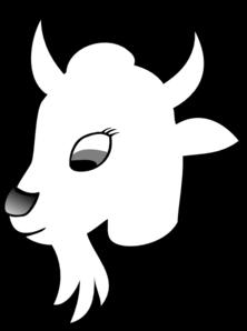 Goat Outline 1 Clip Art at Clker.com.
