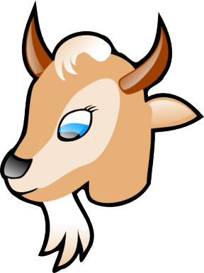 Goat Face Clipart.