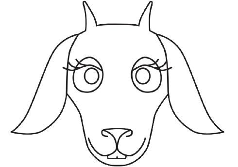 Goat Face Template.