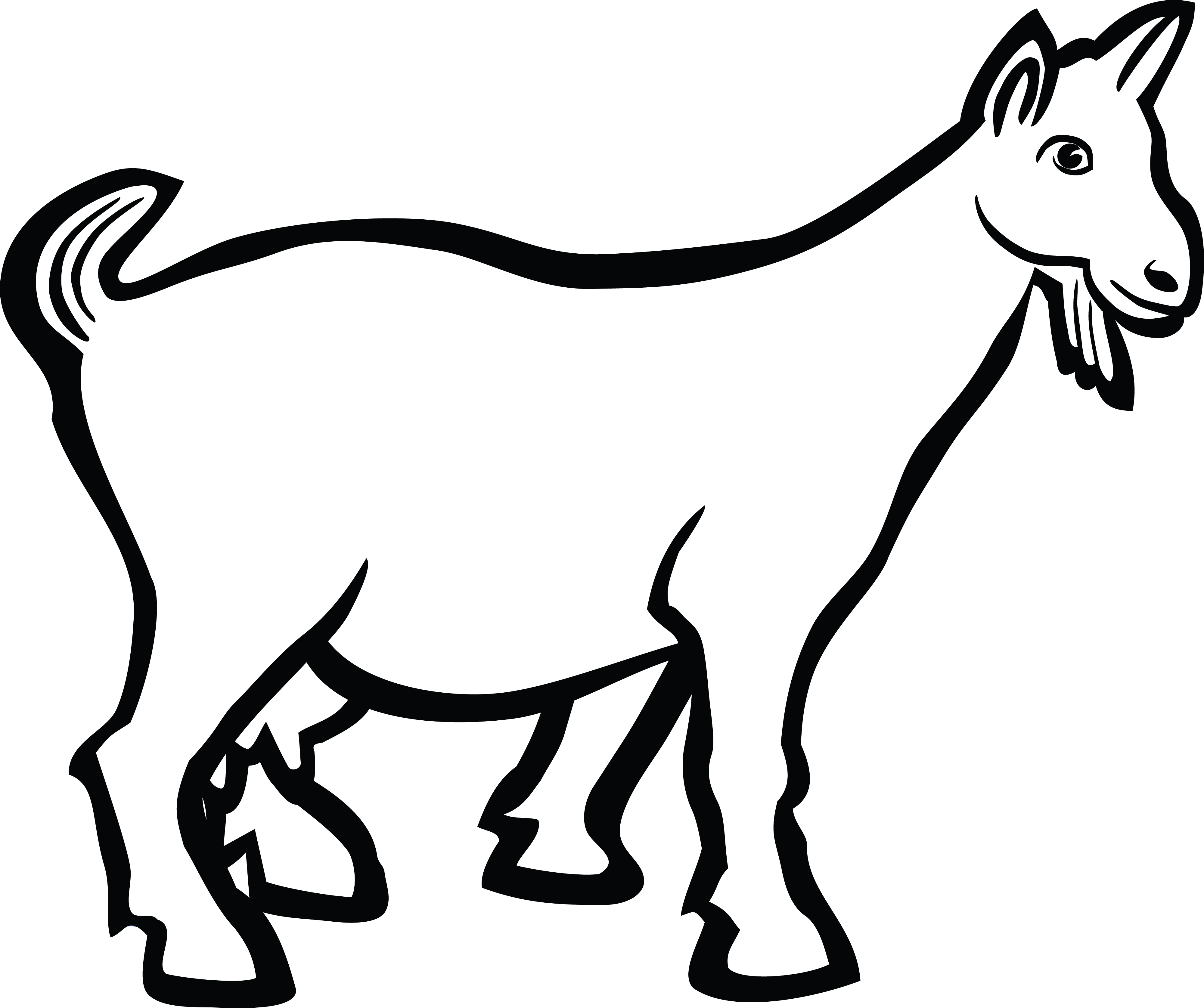 Free Clipart Of A goat.