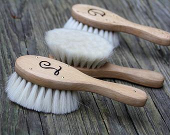 Baby hair brush.