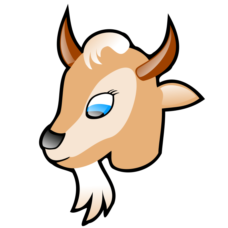 Free Clipart: Goat head.