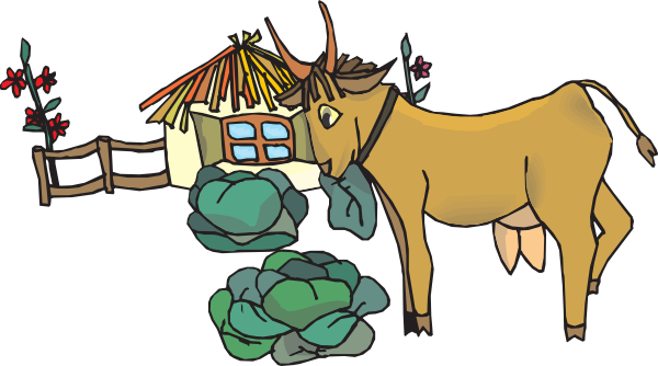 Goat House Clipart.