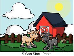 Clip Art Vector of goat csp12369063.