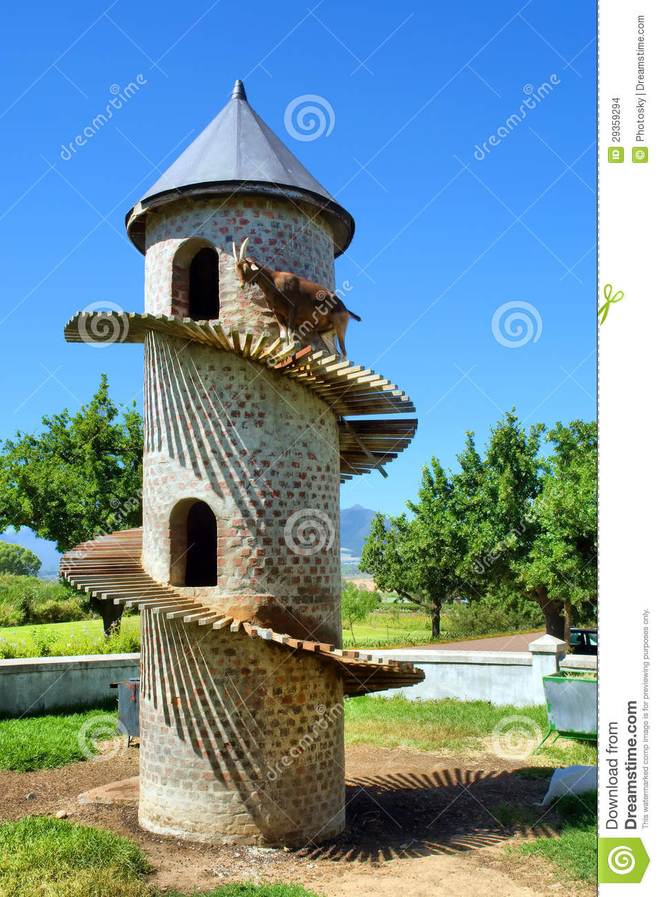 Funny Goat House Stock Images.