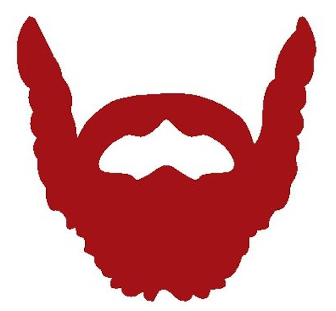 Red Goatee Clipart.
